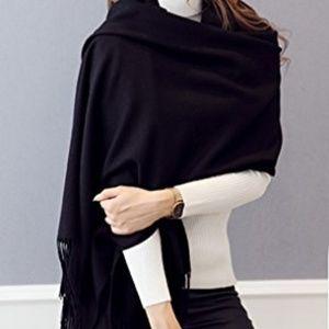 Accessories - Soft Black Cashmere Scarf NWT